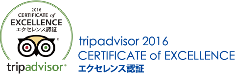tripadviser 2013 CERITIFICATE of EXCELLENCE エクセレンス認証